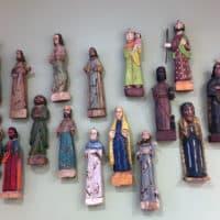 Handcarved folk art, santos, from Guatemala. (Kim Giler for On Point)