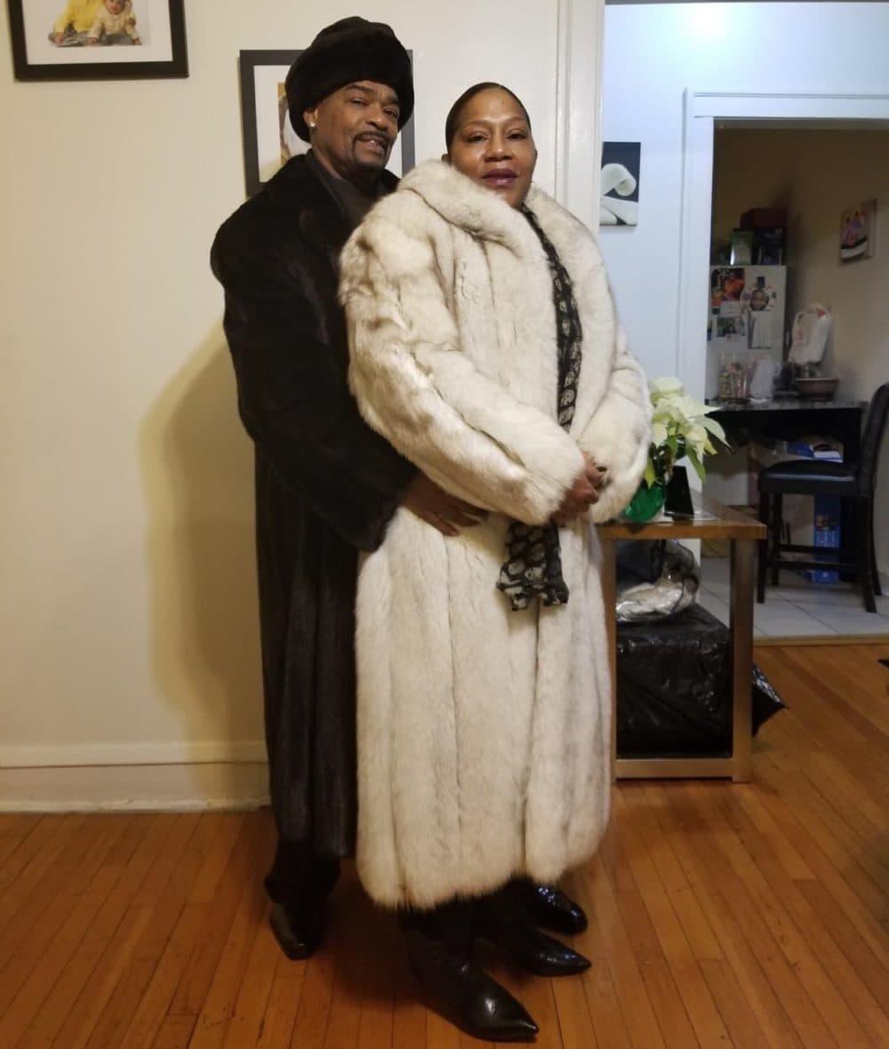 Jasmine Sanders' mother in her fur coat (Courtesy of Jasmine Sanders)