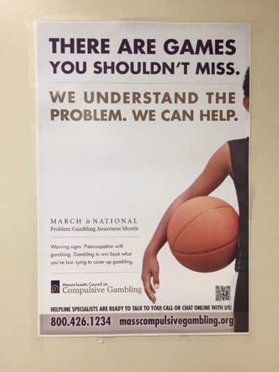 A poster at the Gandara Center in Springfield (Karen Brown/NEPR)