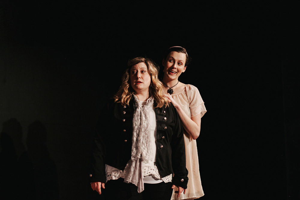 Improvised Jane Austen performed at the iO theater in Chicago, IL, Feb. 26, 2019.
