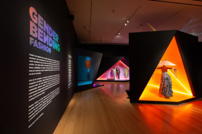 "The installation of ""Gender Bending Fashion"" at the MFA. (Courtesy Michael Blanchard/MFA)"