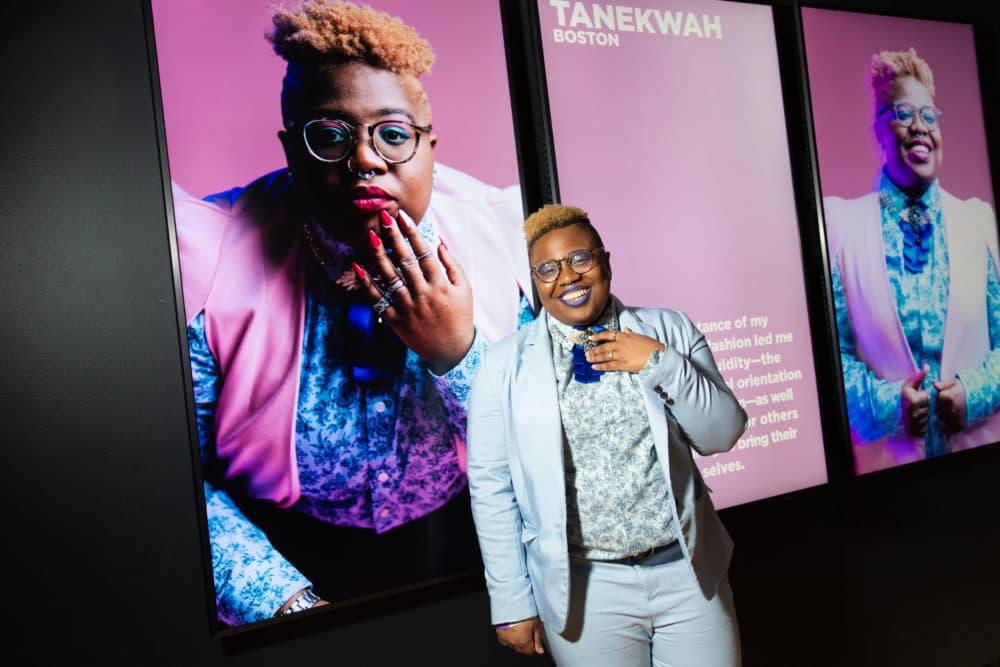 Boston fashion icon Tanekwah. (Courtesy Michael Blanchard/MFA)