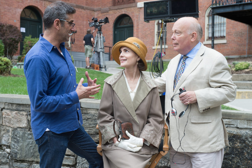 """The Chaperone"" reunites actress Elizabeth McGovern and writer Julian Fellowes (right). (Joan Carter/SPR)"