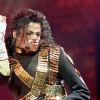 Michael Jackson performs in 1993. (Jeff Widener/AP)