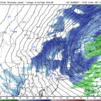 A period of snow showers is likely late tonight. (Courtesy COD Weather)