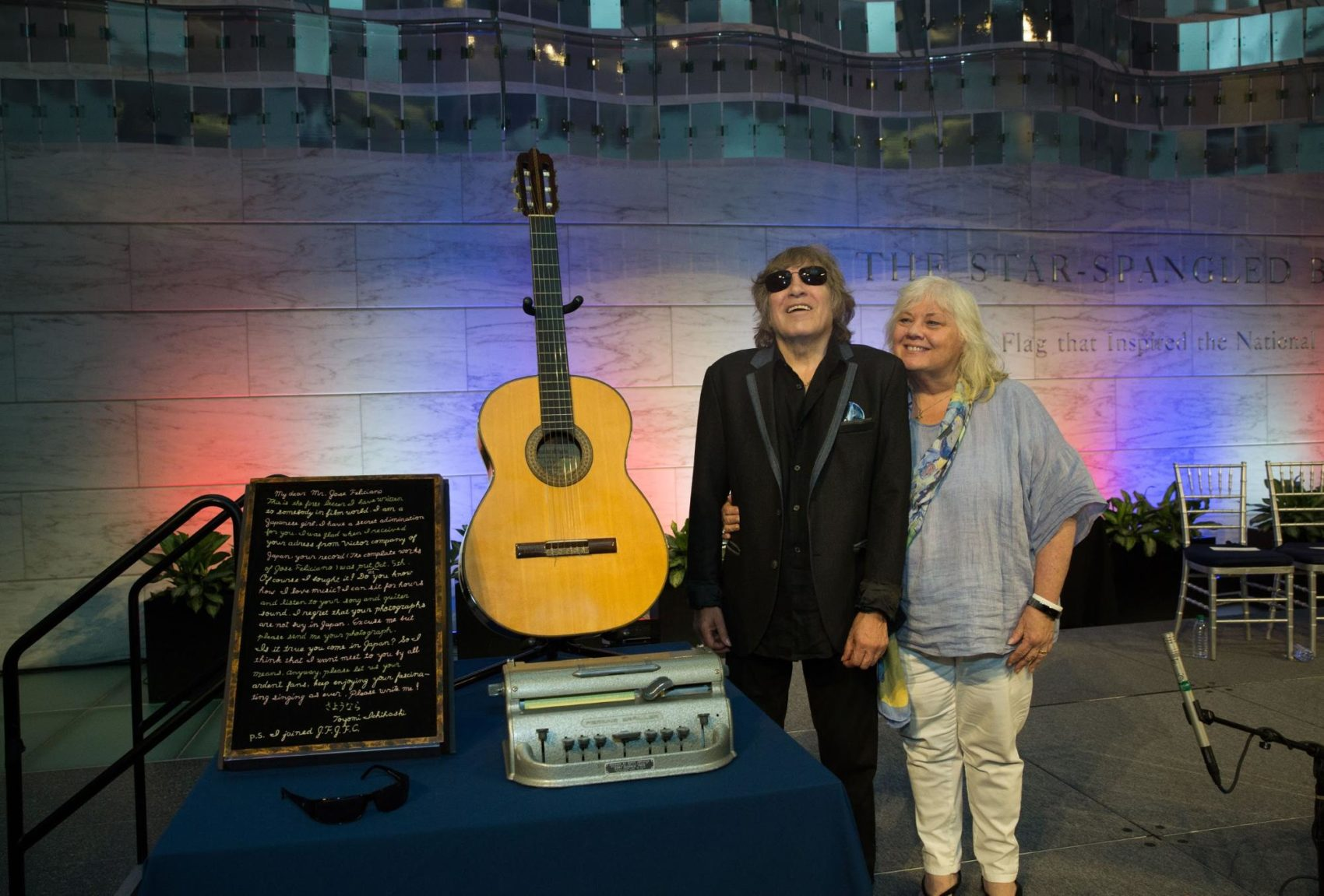 José Feliciano and Susan Omillian in 2018. (Courtesy Roger Weber)