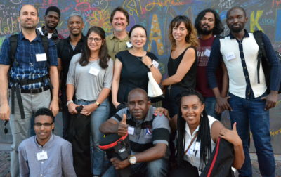 Community Supported Film's New Immigrant and Refugee Visions team. (Courtesy Christine Arveil)
