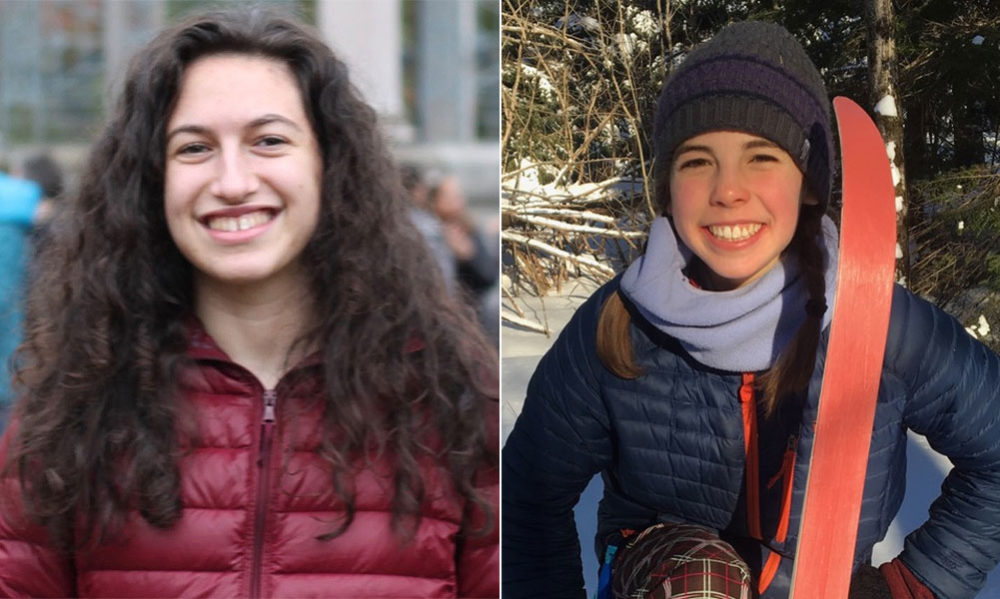 Amalia Hochman, 17, left, and Saraphina Forman, 16, are organizers of Massachusetts' Youth Climate Strike. (Courtesy)