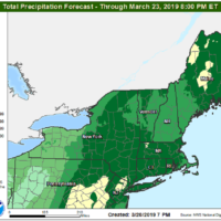 About 12 hours of rain is likely this evening through early Friday. (Courtesy NOAA)