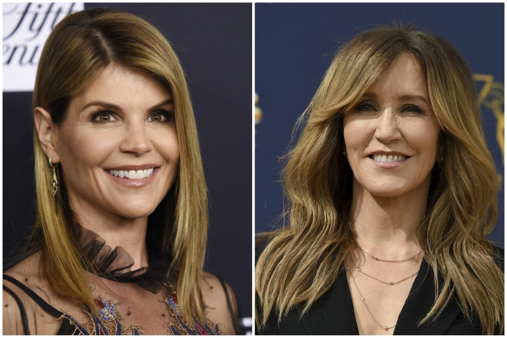 Actresses Lori Loughlin, left, and Felicity Huffman (Chris Pizzello/Invision/AP and Jordan Strauss/Invision/AP)