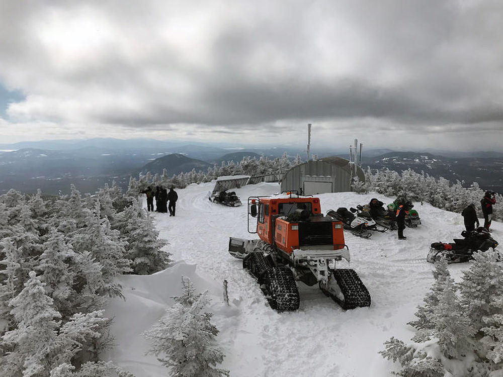 The view from the peak of Coburn Mountain in western Maine. (Fred Bever/Maine Public Radio)