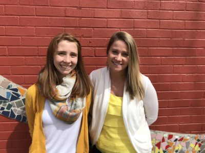 Peyton Meredith, left, is a senior and peer counselor at Westgate Community School, a K-12 public charter in Thornton, Colorado, and Amanda Novak, right, is the assistant principal at Westgate. A lack of counselors at the school inspired them to collaborate on a peer counseling program to address the mental health needs of students. (Courtesy Holly Peterson)