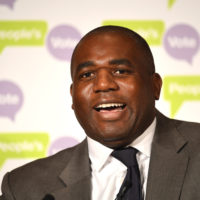David Lammy, member of Parliament for the Labour Party, attends an event for cross party politicians to examine alternative forms of Brexit at a Peoples Vote event at Royal Institute of Chartered Surveyors on January 22, 2019 in London. (Leon Neal/Getty Images)