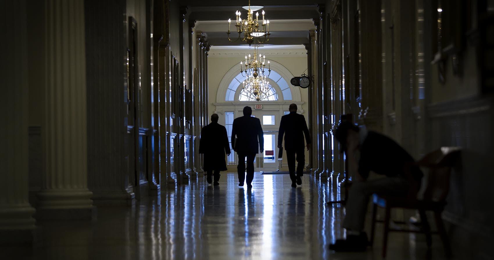 In the corridors of the Massachusetts State House (Robin Lubbock/WBUR)