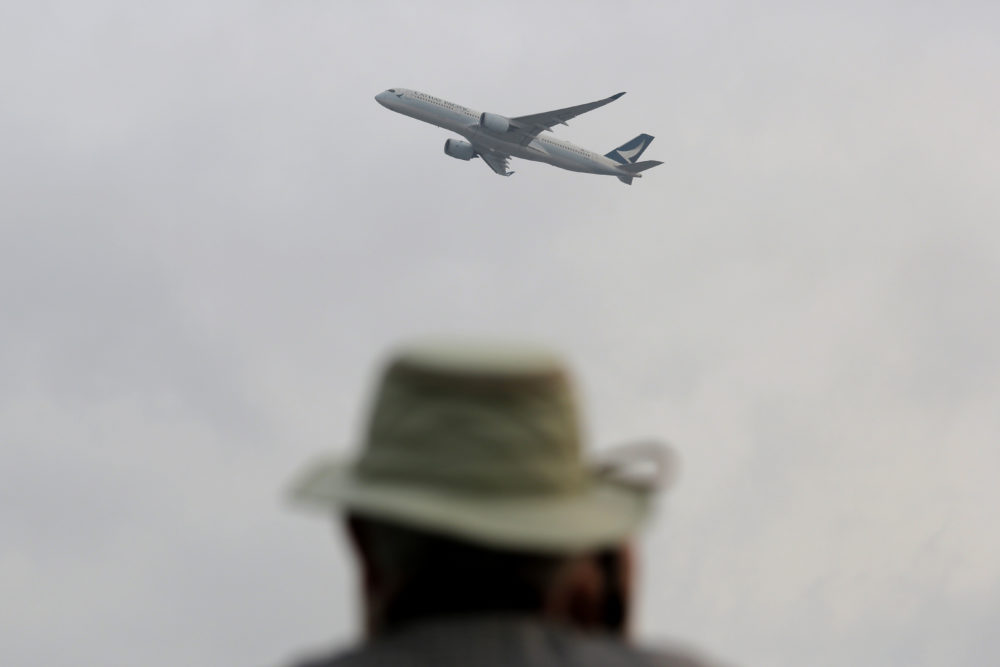 """There's a lot of room for more airplane seats in the United States,"" says Andrew Levy, CEO of XTRA Airways. The airline could carry passengers as America's newest ""ultra-low-cost carrier"" by late this year. Pictured: A passenger aircraft takes off from Hong Kong International Airport. (Kin Cheung/AP)"
