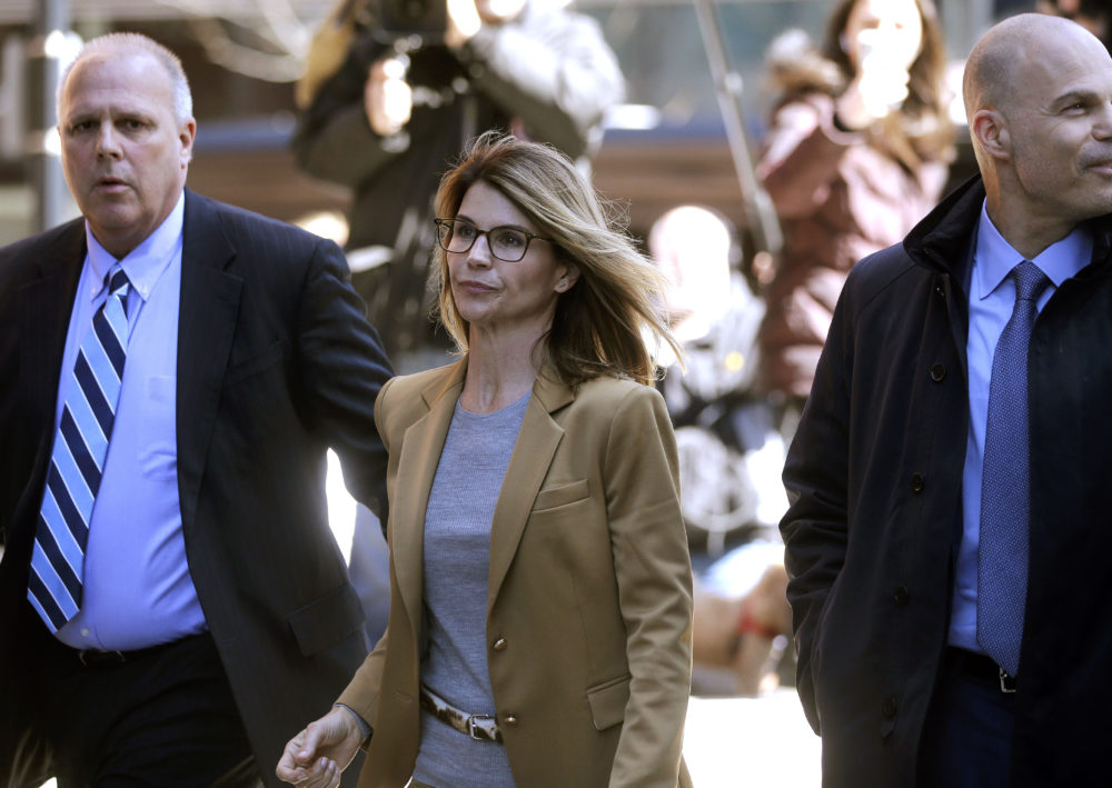 Actress Lori Loughlin arrives at federal court in Boston on April 3 to face charges in a nationwide college admissions bribery scandal. (Steven Senne/AP)