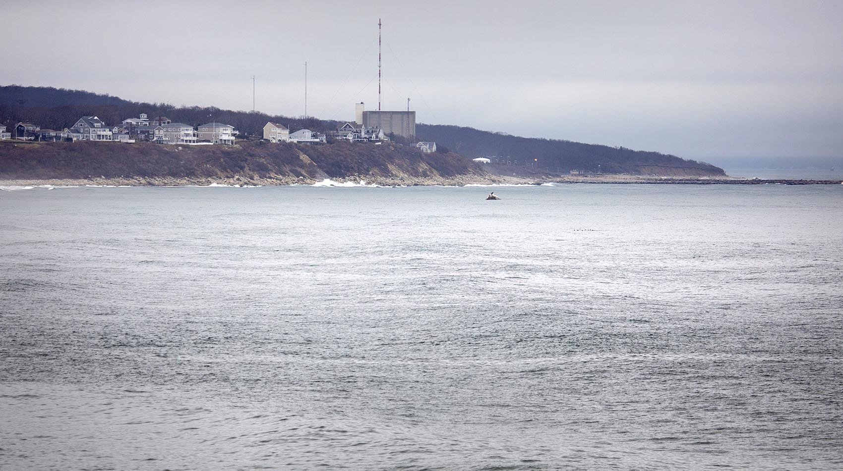 The Pilgrim Nuclear Power Station on Rocky Point, Plymouth, Mass. (Robin Lubbock/WBUR)