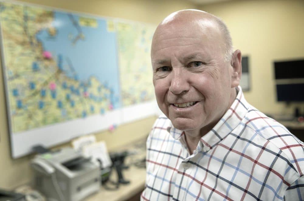 Henry Lipe, emergency preparedness director for Plymouth (Robin Lubbock/WBUR)