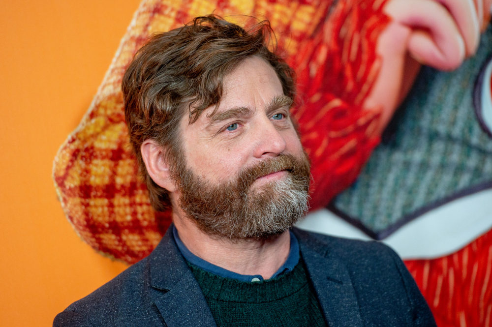 "In the new animated movie ""Missing Link,"" Zach Galifianakis plays a Sasquatch who goes off in search of his only kin. ""It's a buddy movie, it's a travel movie, it's got amazing landscapes with this beautiful stop-motion animation that is breathtaking, I think,"" he tells Here & Now. (Roy Rochlin/Getty Images)"