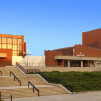 The University of Illinois' Krannert Center for the Performing Arts in Urbana first opened in April 1969, and was designed by architect Max Abramovitz, who's known for his work on the David Geffen Hall at Lincoln Center in New York, among other famous buildings. (Courtesy of Krannert Center for the Performing Arts)