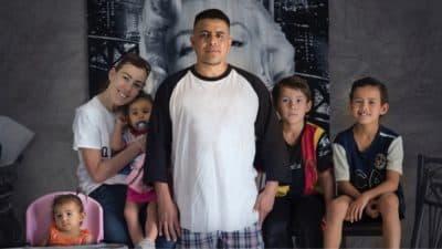 Marcos and Elizabeth Perez with their children. (Courtesy David Sutherland)