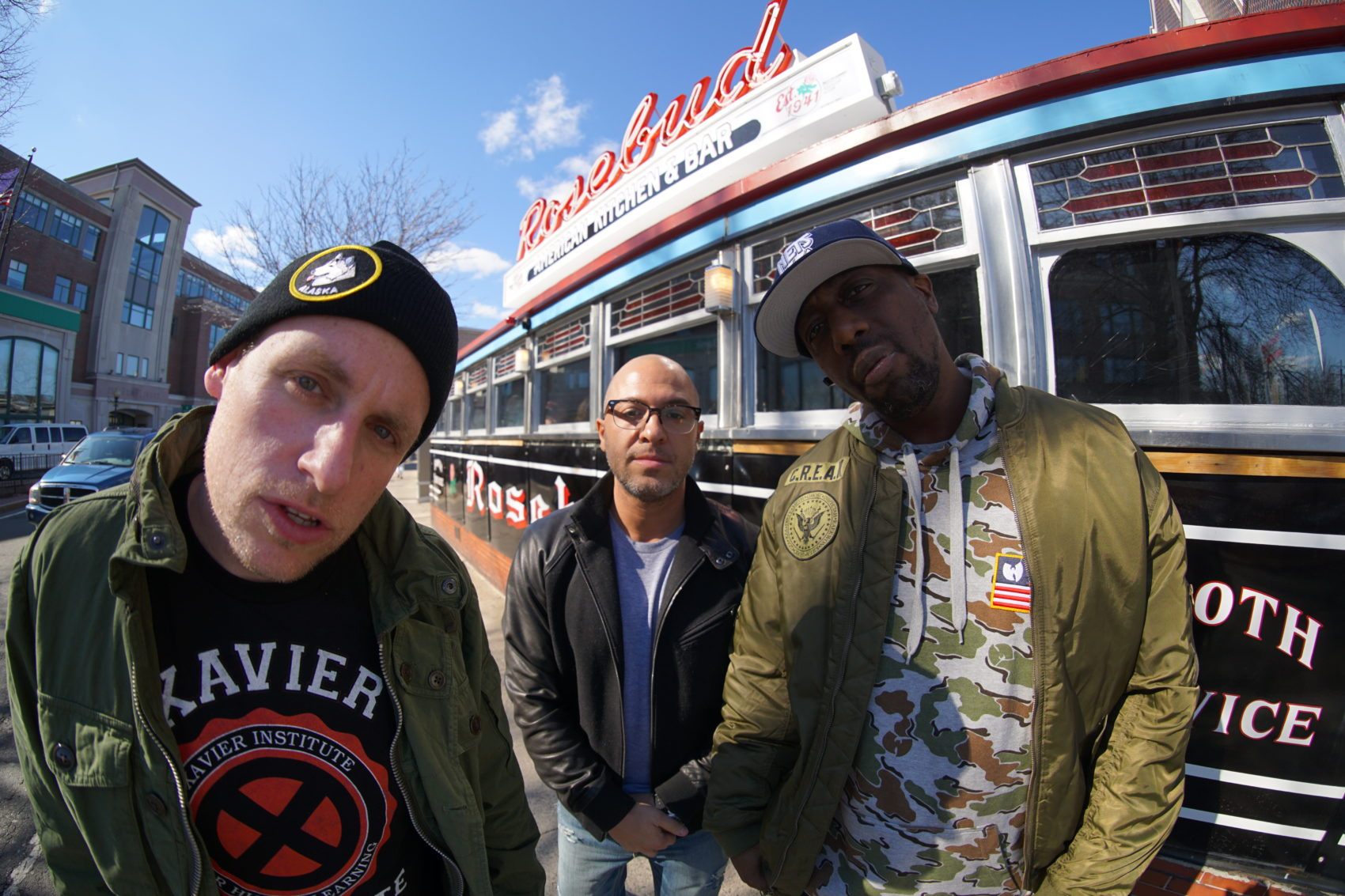 Czarface members Esoteric, 7L and Inspectah Deck. (Courtesy Bill X)