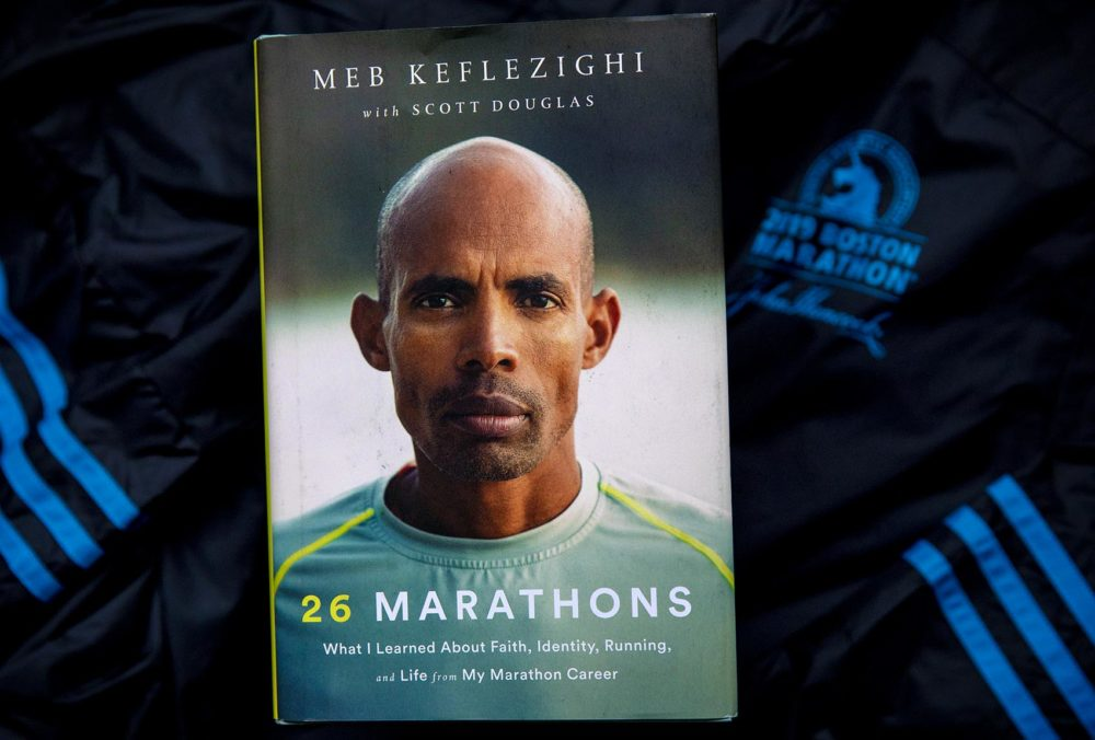 """26 Marathons,"" by Meb Keflezighi. One of the world's greatest distance runners, Keflezighi is the only man to win the New York and Boston marathons, plus an Olympic silver medal in the 26.2-mile race. (Robin Lubbock/WBUR)"