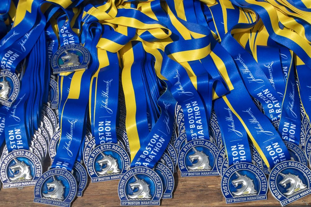 2019 Boston Marathon medals (Jesse Costa/WBUR)
