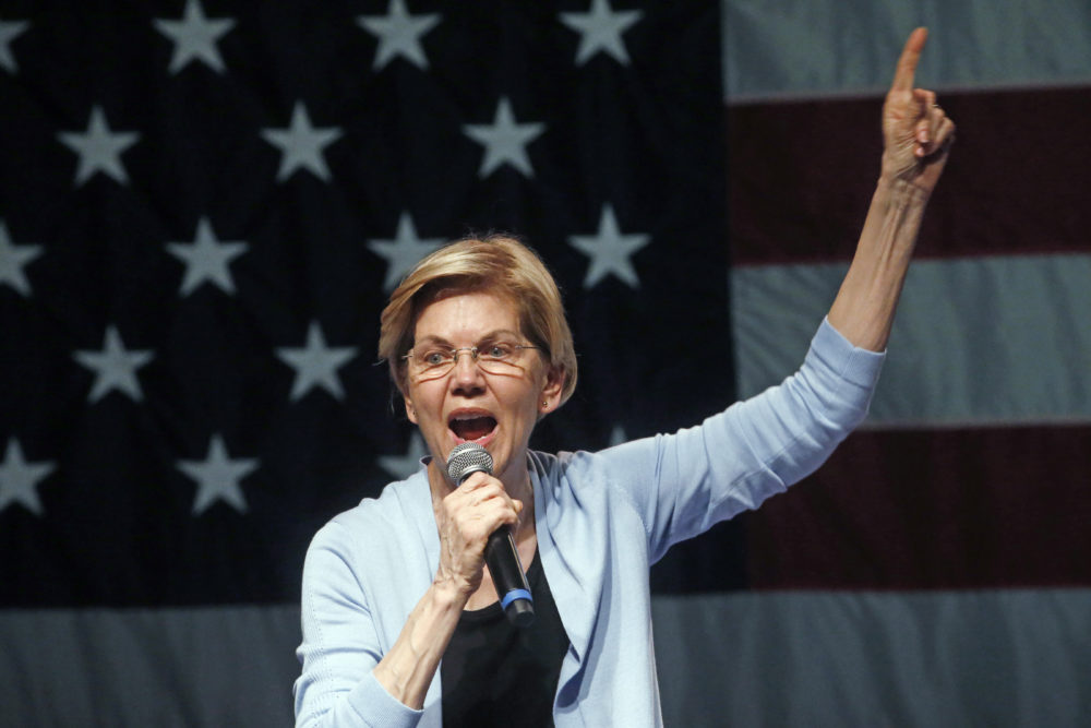 Democratic presidential candidate Sen. Elizabeth Warren, D-Mass., speaks during a campaign rally Wednesday in Salt Lake City. (Rick Bowmer/AP)