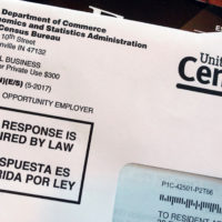 An envelope containing a 2018 census letter mailed to a U.S. resident as part of the nation's only test run of the 2020 Census. (Michelle R. Smith/AP)