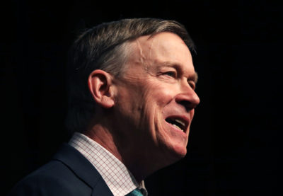 Democratic presidential candidate and former Colorado Gov. John Hickenlooper speaks at the National Action Network's annual convention on April 5, 2019 in New York City. (Spencer Platt/Getty Images)