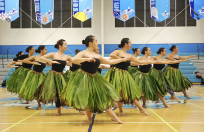 In this Friday, March 11, 2016 photo, members of Halau Hi'iakainamakalehua practice in Honolulu for the upcoming Merrie Monarch Festival, the world's most prestigious hula competition. The 2019 festival is underway this week. (Jennifer Sinco Kelleher/AP)