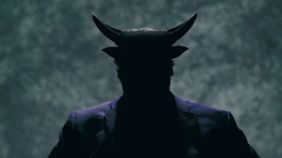 """A scene from """"Hail Satan?"""" that features a, go-figure, Satanic figure. (Courtesy Magnolia Pictures)"""