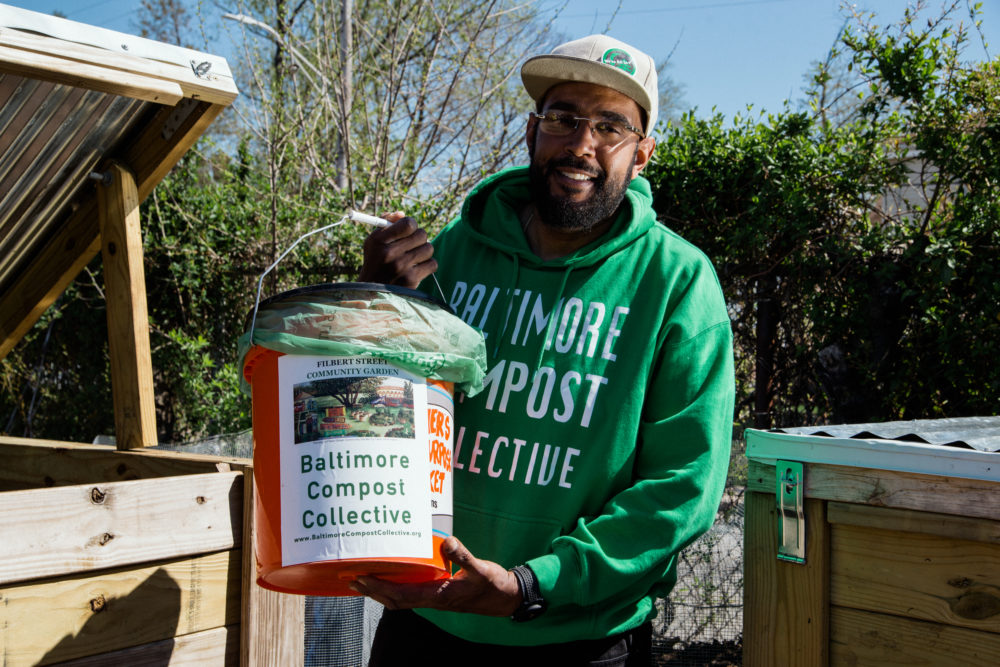 Marvin Hayes, director of the Baltimore Compost Collective, wants to offer the city an alternative to burning its garbage. (Rosem Morton for Here & Now)