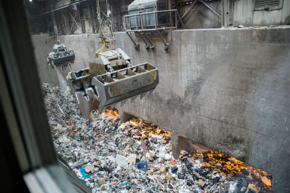 Wheelabrator processes about 2,250 tons of Baltimore's waste per day. (Rosem Morton for Here & Now)