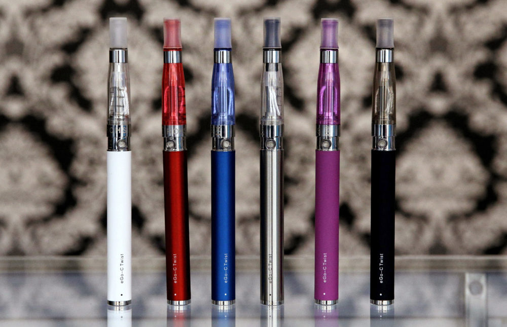 E-cigarettes appear on display at Vape store in Chicago in 2014. (Nam Y. Huh/AP)