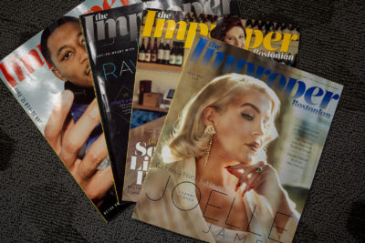 Copies of The Improper Boston (Jesse Costa/WBUR)