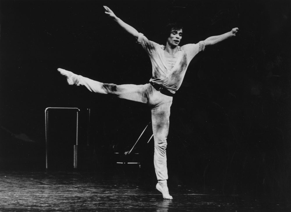 "Rudolf Nureyev dances onstage in ""Faun"" in 1978. (Jorge Fatauros/AP)"