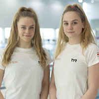 Great Britain's synchronized swimming duet Kate Shortman and Isabelle Thorpe made a splash last month when the two attempted their world championship routine swimming in a pool of floating plastic waste. (Courtesy of Swim England Synchro)