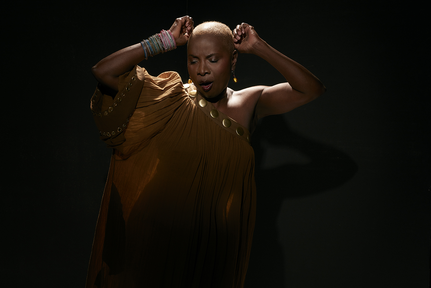 Angélique Kidjo pays tribute to the songs of salsa star Celia Cruz on her new album. (Laurent Seroussi/Courtesy of the artist)