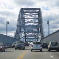 The Bourne Bridge. (Jesse Costa/WBUR)