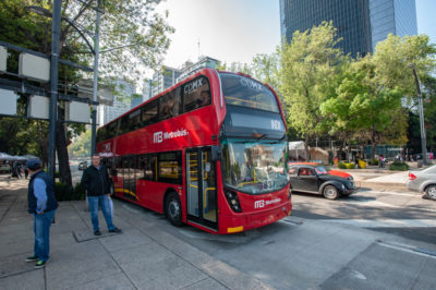 The Mexico City Metrobús is a bus rapid transit system that has served Mexico City since line 1 opened on June 19, 2006. As of February 2018, it consists of seven lines that cross the city and connect with other forms of transit, such as the Mexico City Metro. (Keith Dannemiller for WBUR)