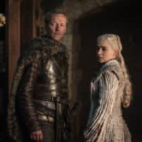 "Iain Glen and Emilia Clarke in ""Game of Thrones."" (Helen Sloane/HBO)"