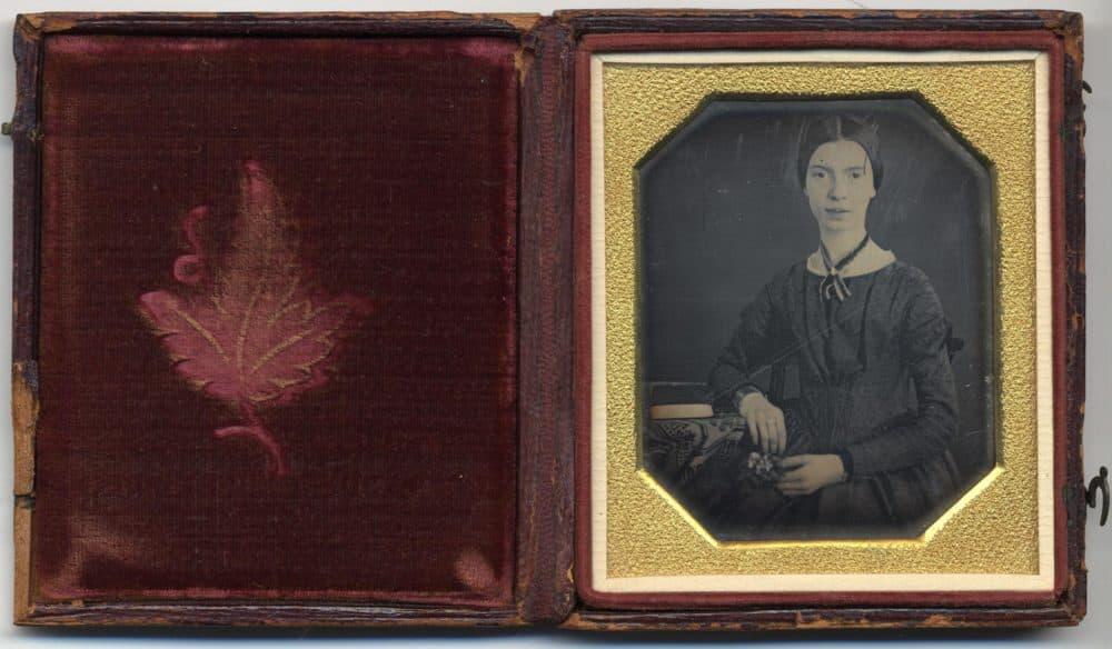 Original daguerreotype of the poet Emily Dickinson, taken in 1847 (Courtesy of Amherst College/Public Domain)