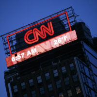 A billboard for CNN is shown Monday, Feb. 1, 2010 in New York. (Mark Lennihan/AP)