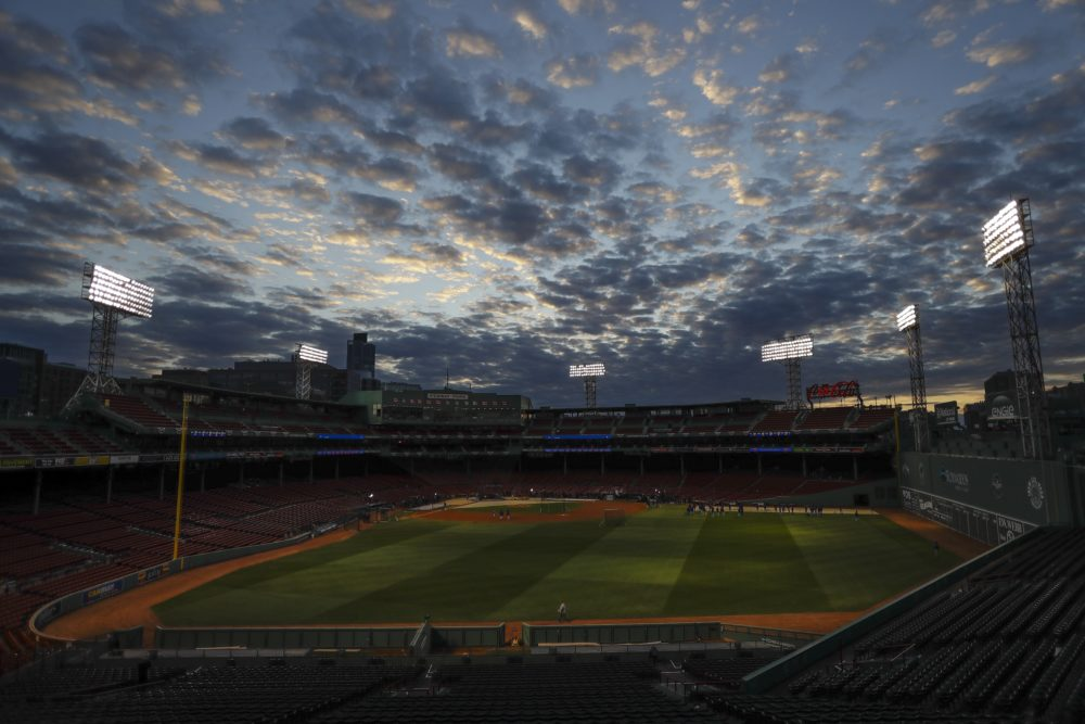 A drone was recovered by authorities in Boston after it was seen flying over Fenway Park during a Red Sox game against the Blue Jays. (Matt Slocum/AP)