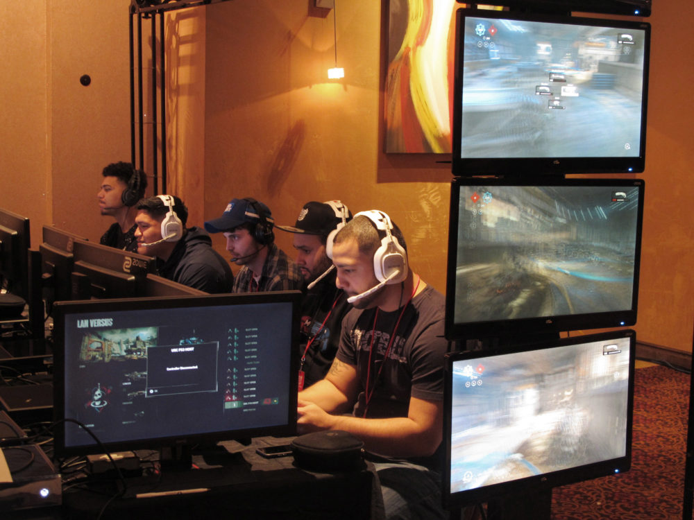 In this March 31, 2017 file photo, video game players compete against one another in an e-sports tournament in Atlantic City, N.J. (Wayne Parry/AP)