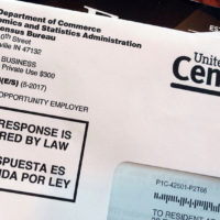 This March 23, 2018, file photo shows an envelope containing a 2018 census letter mailed to a U.S. resident as part of the nation's only test run of the 2020 Census. (Michelle R. Smith, File/AP)