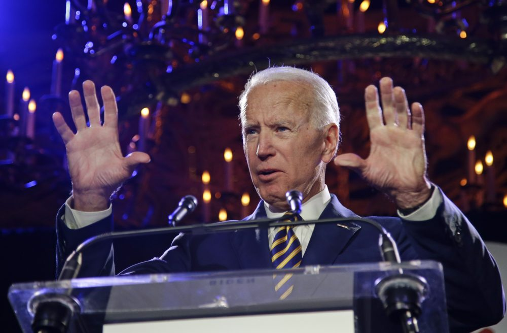 Former Vice President Joe Biden speaks at the Biden Courage Awards Tuesday, March 26, 2019, in New York. (Frank Franklin II/AP)