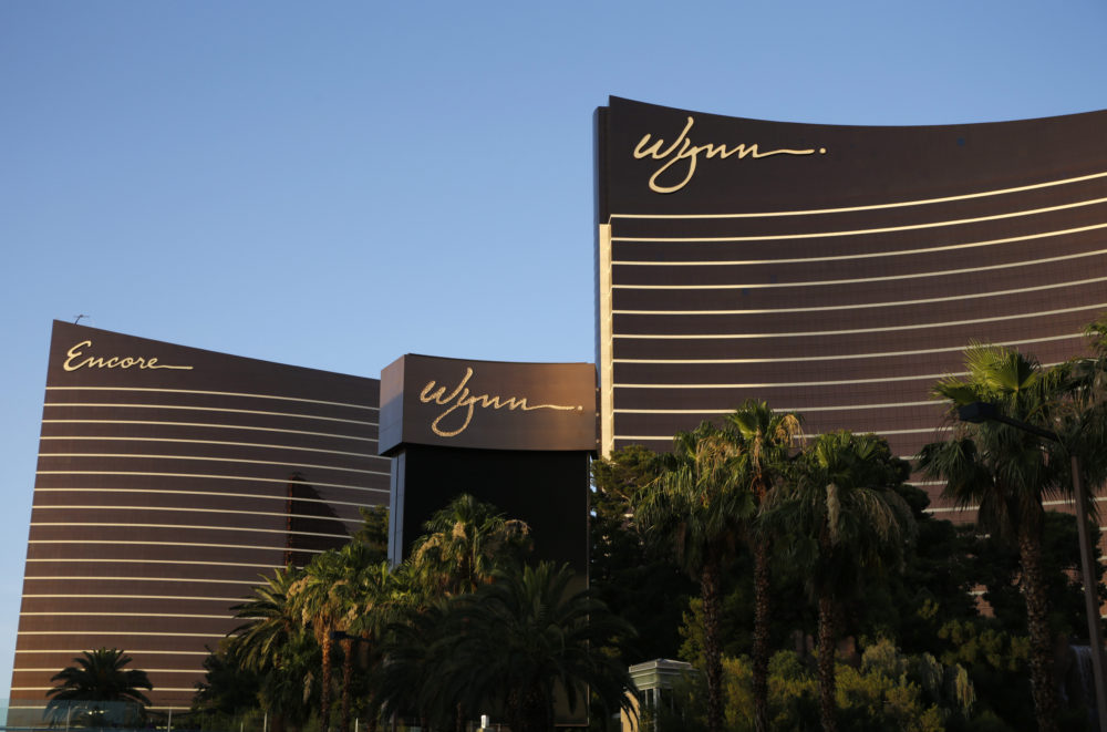 FILE - This June 17, 2014 photo shows the Wynn Las Vegas and Encore resorts in Las Vegas, both owned and operated by Wynn Resorts. (John Locher/ AP File Photo)